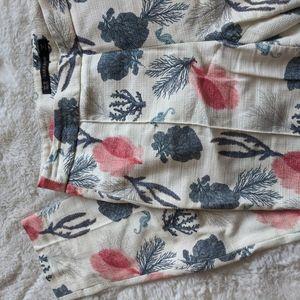 Zara Pants - Zara | seahorse coral reef cotton skinny pants